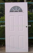 High definition 4 panel door fan lite external grille with clear glass