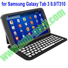 Ultrathin Aluminium Bluetooth Keyboard for Samsung Galaxy Tab 3 8.0 T310 With Leather Case and Stand