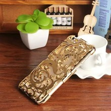 Costumized New Arrival Elegant Hollow Out Mental Hard Case For Samsung Galaxy E7 Mix Colors