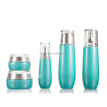 Wholesale 30ml~120ml cosmetic empty glass packaging bottle and jar manufacturer cream jar lotion toner bottle printing
