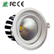 CE RoHS approved 6 inch 8 inch 120 degree Adjustable COB led downlight