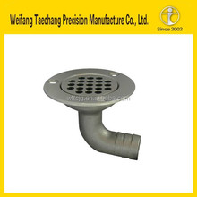 High cost performance casting stainless steel horizontal drain parts in Shandong