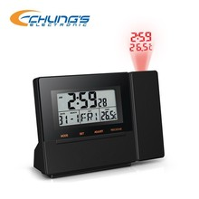 LED projection clock with radio controlled clock and alarm,snooze function
