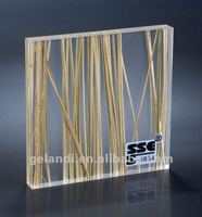 Translucent Acrylic resin sheet for furniture covering panels