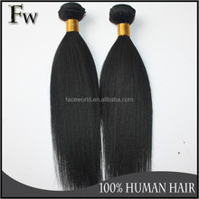 Machine human hair weft most popular ebony yaki hair weave