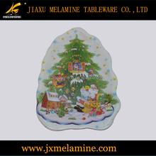 Christmas design melamine tree plate