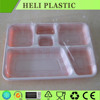 6 Compartments disposable plastic lunch food tray with high quality