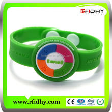 Party Event Use 125 khz Multi-color Custom Silicone RFID Wristband