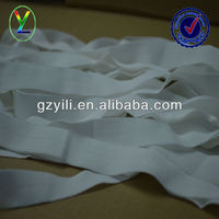 High elasticity white woven fold over elastic nylon binding edged ribbon