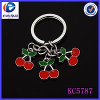 Fashion Charm jewelry high quality custom keychain ios 7 cherry for gifts