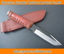 carbon steel blade fixed blade knife camping hunting survival knife 4153
