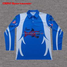UV protective moisture wicking long sleeves fishing shirts