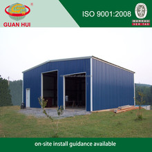 Heat insulated temporary steel structure warehouse