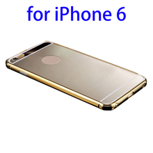 Wholesale Deluxe Metal Bumper and Mirror PC Back Shell for iPhone 6