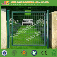 100x200cm welded wire mesh panel and round post park use safety metal fence decorative garden door
