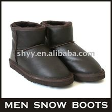 Men ankle boot winter double face sheepskin snow boots