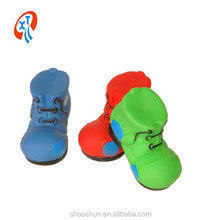 new design squeaky Patch shoes vinyl dog toys pet toys