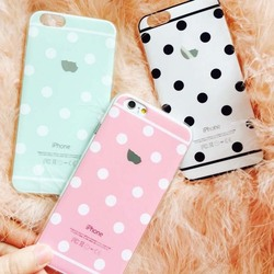 Newest Fashion Luxury For iphone6 Case Cute Candy Colors Dot TPU Phone Cases Back Covers For Apple iphone 6 Case 4.7 inch