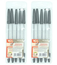 5 pcs one set plastic pack bic ball pen