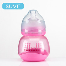 120ML pink arc wide neck PP feeding bottle clear cheap plastic baby bottles favors
