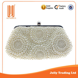 Durable handbag pearl fastion women latest bags