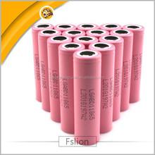 New stock! Pink LG18650 li ion battery 3000mah 3.7v LGABD11685 cell