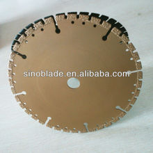 Silent core laser welded diamond saw blades for marble/granite/concrete cutting