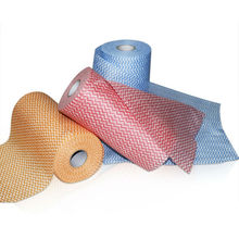 Lint free nonwoven raw materials of cleaning products