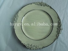 Charger plates with classical finish Events Decoration wholesale