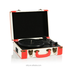 Portable suitcase turntable player bluetooth vinyl record player