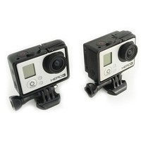 For GoPro hero 3 standard extension plate seal protection side box With a fixed base + screw
