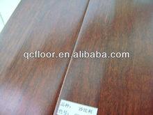 Fsc/ce brunetaille teinté blanc lavé avec chêne 3 couche 1 bande. sapele planchers de bois d'ingénierie