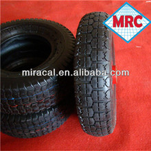 supper friction small rubber wheels with bearings 4.00-6