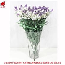 Atraente flores secas de lavanda flor artificial para o casamento fazer flor