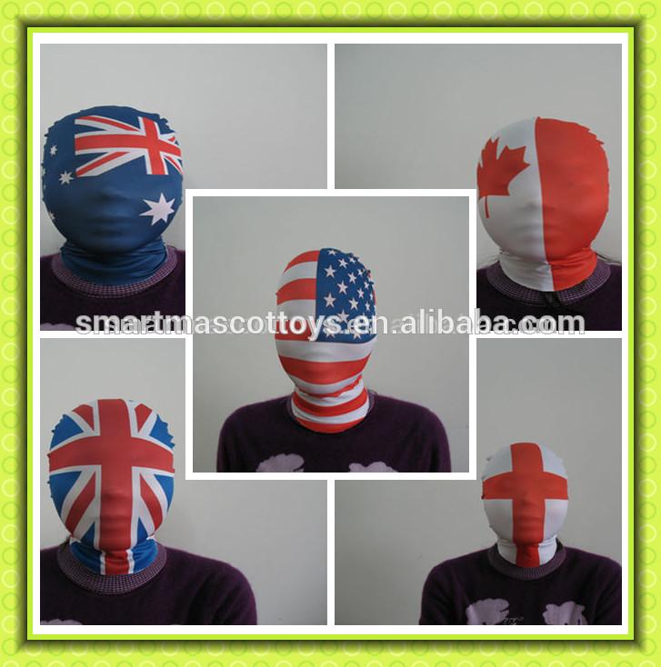 vendita calda un formato misura tutti design spandex viso maschere di morph maschera