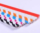 Rosa listrado papel palhas palhas de papel biodegradáveis
