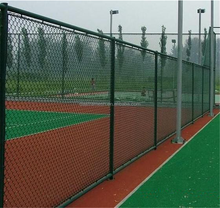 China Manufacturer green PVC coated Chain Link Fence construction wire mesh