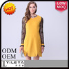 top selling one piece slim ruffle dress, rayon embroided cotton dress