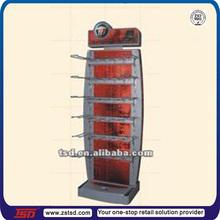 TSD-M466 china factory custom floor promotional metal umbrella display/metal hanging stand/metal display rack with hanging hooks