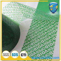 Anti counterfeit security void tape, plastic adhesive packaging tape, low residue