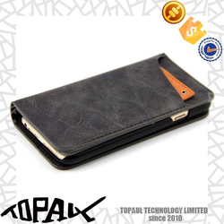 Can be customized smart phone flip cases leather
