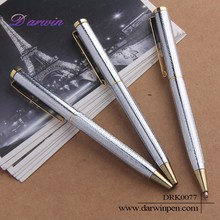 Hot new products for 2015 ball pen making machine silver metal pen