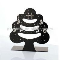 Fashionable tree shaped handmade acrylic earring holder
