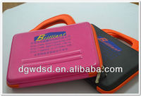 2013 Dongguan Pink PU Cover EVA Laptop Case With Orange Handle