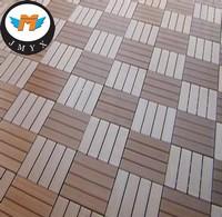 2015 New Material Waterproof Interlock WPC Deck Outdoor DIY Tile Floor in China