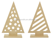 many shapes carved wooden christmas tree decorations
