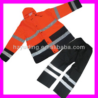 High quality orange heavy rubber with reflective rainwear