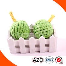 100% handmade apple cotton and jute pet toys