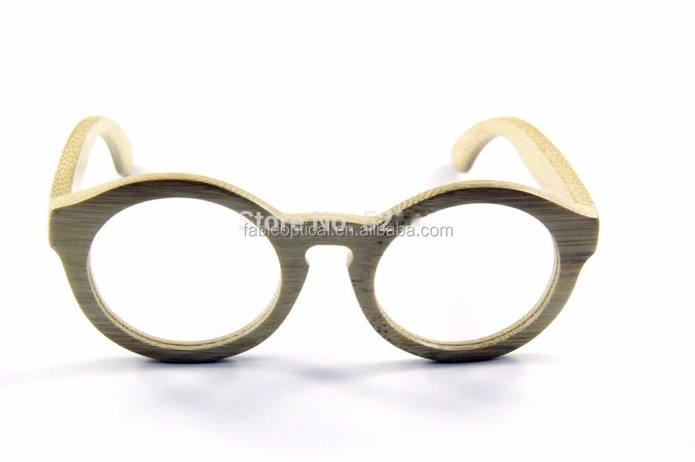 Round Retro Bamboo Frame Sunglasses Bamboo Eyeglass Frames ...