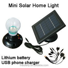 Portable Design Mini Home LED Desk Table Wall Solar Light With USB Phone Charger